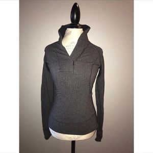 Lululemon Think Fast Gray Pullover Size 4